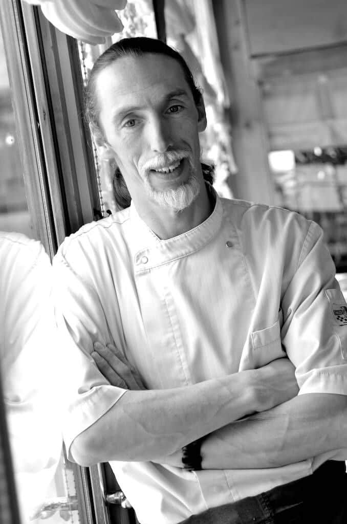 Erick de Ganck chef de cuisine du restaurant gastronomique le Rosebud