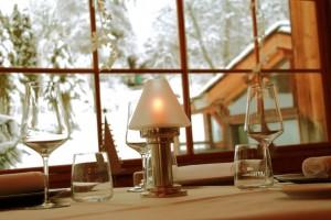 photophore restaurant gastronomique le Rosebud au lavancher dans la vallée de Chamonix