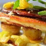 restaurant gastronomique le rosebud au lavancher dans la vallée de Chamonix- les plats